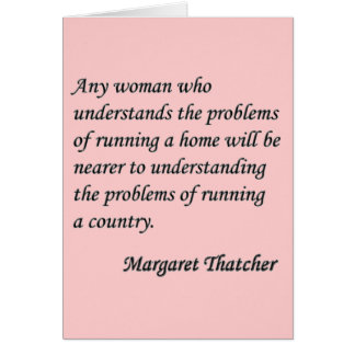 """Margaret Thatcher """"Running a country"""" Quote Button Card"""