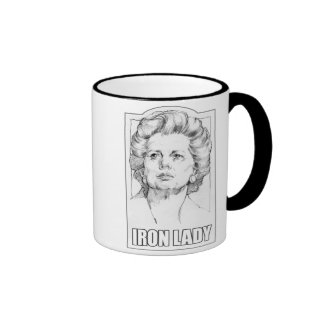 Margaret Thatcher - taza de la dama de hierro