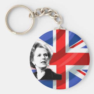Margaret Thatcher Union Jack Llavero Redondo Tipo Pin