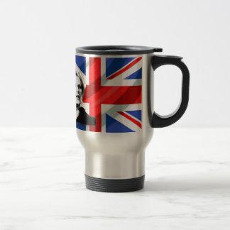 Margaret Thatcher Union Jack Travel Mug