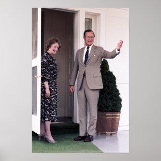 Margaret Thatcher y George Bush Póster