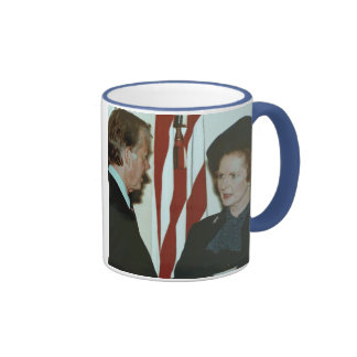 Margaret Thatcher y Jimmy Carter Taza A Dos Colores