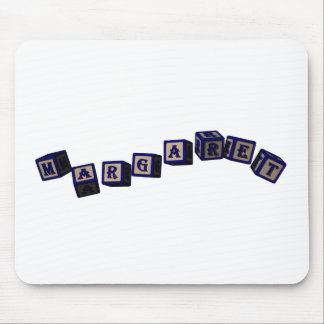 Margaret toy blocks in blue mouse pad