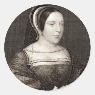 Margaret Tudor Etiquetas Redondas
