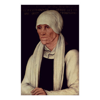 Margarethe Luther , mother of Martin Luther Print