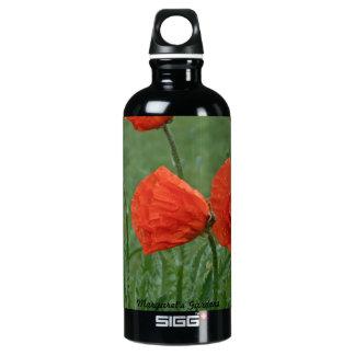 Margaret's Gardens Poppy Aluminum Water Bottle