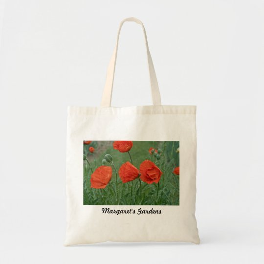 Margaret's Gardens Poppy Bags/Totes Tote Bag