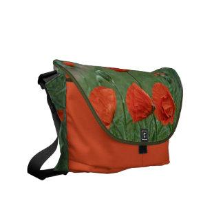 Margaret's Gardens Poppy Messenger Bag