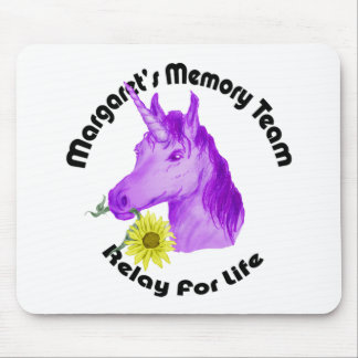 Margaret's Memory Team Logo--Relay For Life Mouse Pad