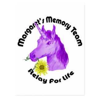 Margaret's Memory Team Logo--Relay For Life Postcard