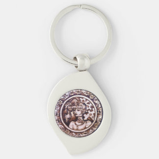 Margarette Steampunk Swirl Keychain