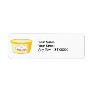 margarina etiqueta de remite