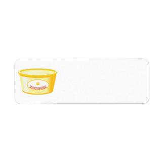 margarina etiqueta de remitente