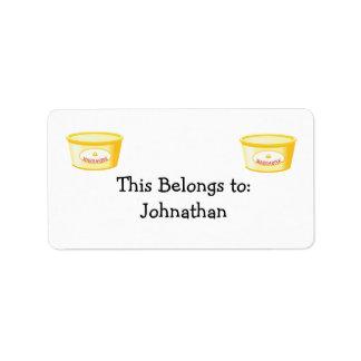 margarina etiquetas de dirección