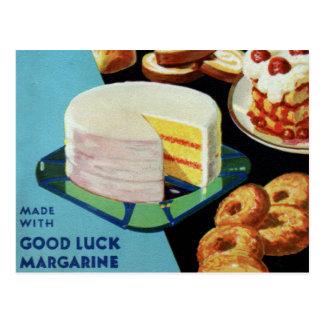 Margarina retra del libro del cocinero de la buena postal