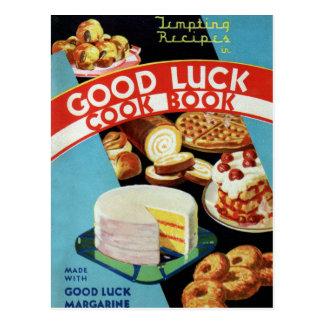 Margarina retra del libro del cocinero de la buena tarjeta postal