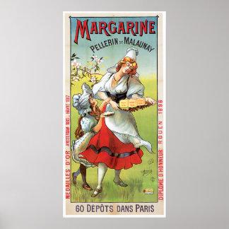 Margarine Vintage Food Ad Art Poster