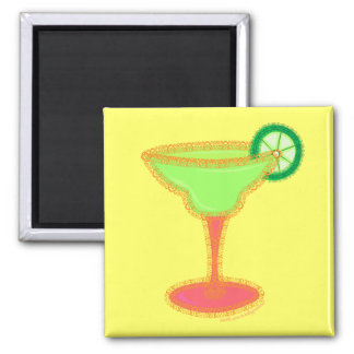 Margarita 2 Inch Square Magnet