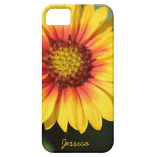 Margarita amarilla brillante, caja personalizada d iPhone 5 Case-Mate cárcasa