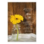 Margarita amarilla en ducha nupcial del país del comunicado personalizado