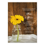 Margarita amarilla en fiesta de compromiso del invitación 12,7 x 17,8 cm