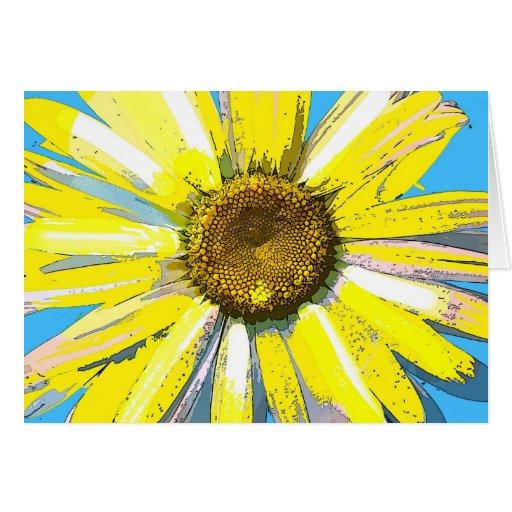 Margarita amarilla, tarjeta de felicitación