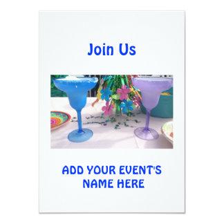 """MARGARITA AND FUN PARTY INVITATION 4.5"""" X 6.25"""" INVITATION CARD"""