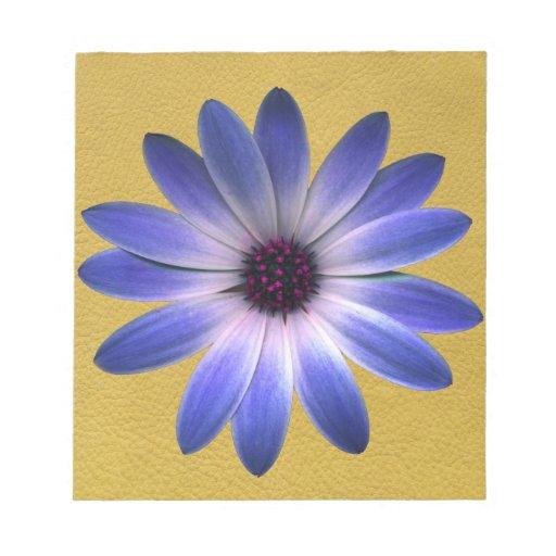 Margarita azul de Lapis en la impresión de cuero Libretas Para Notas