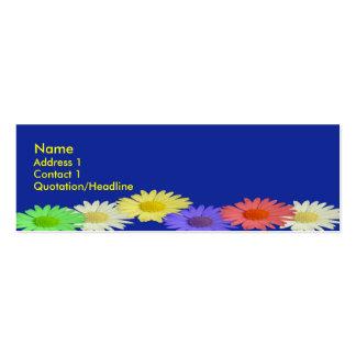 Margarita azul flaca tarjetas de visita mini