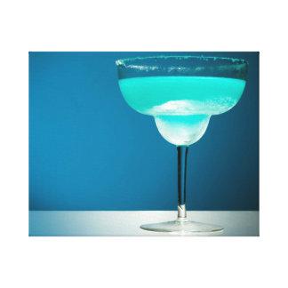 Margarita azul helada lienzo envuelto para galerías