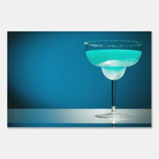 Margarita azul helada señales