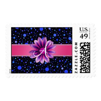 Margarita azul negra de la púrpura de los lunares franqueo