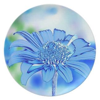 Margarita azul plato de cena