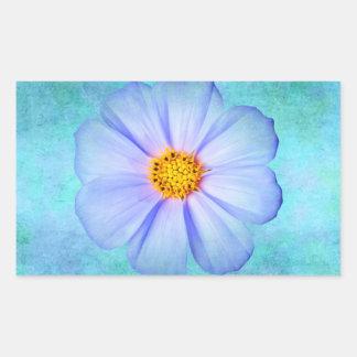 Margarita azul y púrpura del trullo en acuarela de rectangular pegatinas