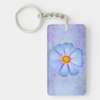 Margarita azul y violeta del trullo en acuarela pú llaveros