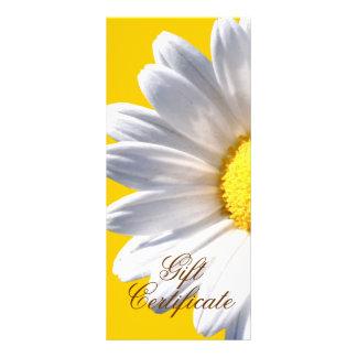 Margarita blanca grande en vale amarillo plantilla de lona