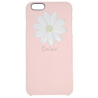 Margarita blanca pálida - iPhone rosado 6/6s más Funda Clear Para iPhone 6 Plus