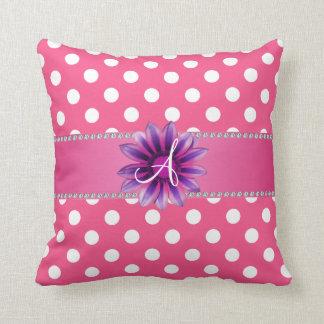 Margarita blanca rosada de la púrpura de los cojin