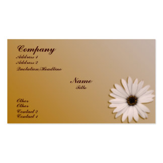 Margarita blanca tarjetas de visita