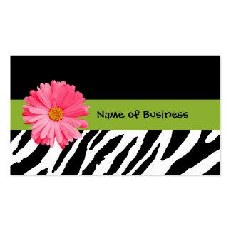 Margarita blanco y negro de moda del rosa del esta tarjeta de negocio