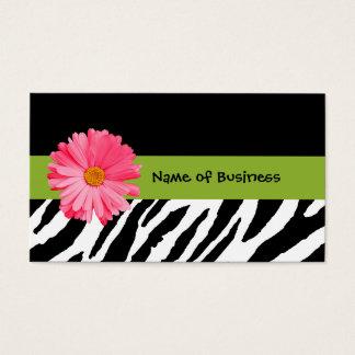 Margarita blanco y negro de moda del rosa del tarjetas de visita