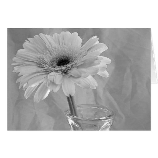 Margarita blanco y negro tarjeta de felicitación