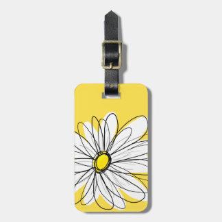 Margarita caprichosa amarilla y blanca con el etiquetas bolsa