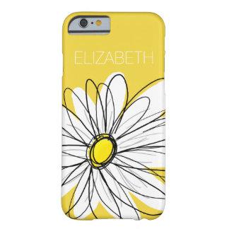 Margarita caprichosa amarilla y blanca con el funda de iPhone 6 barely there