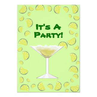 Margarita Cocktail Its A Party Invitation Template