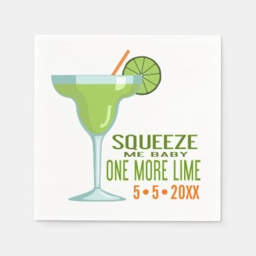 Toddler & Baby themed Margarita Cocktail | Squeeze Me Baby One More Lime Napkin