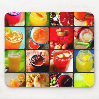 Margarita Cocktails Collage Mouse Pad