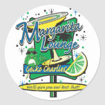 Margarita-Cóctel-Salón de Charlies del Gecko Pegatina Redonda