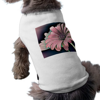 Margarita colorida playera sin mangas para perro