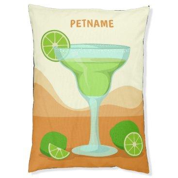 "Beach Themed ""Margarita"" custom name dog beds"